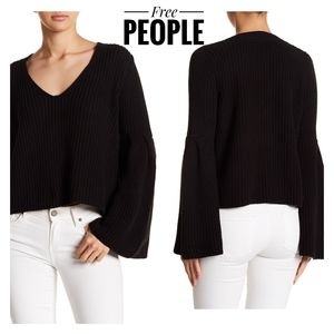 Free People Damsel Bell Sleeve Sweater Size Large